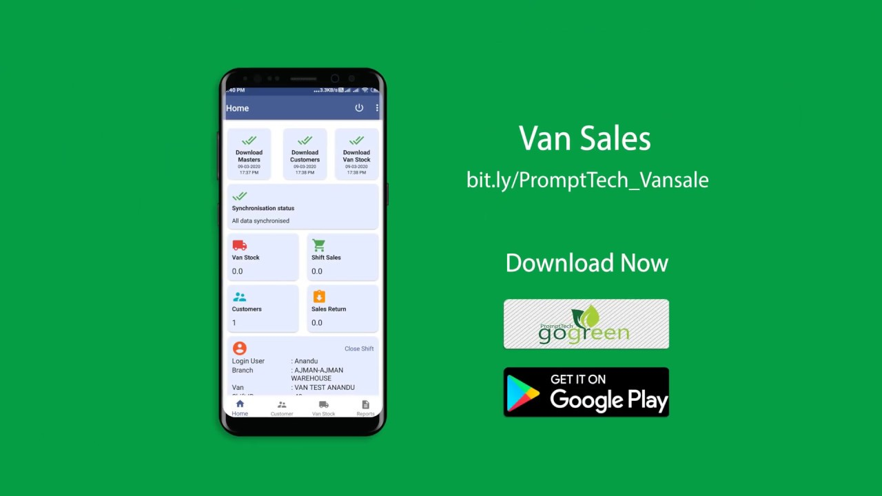 PromptTech Van Sales App for Delivery Vans
